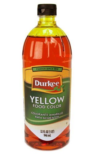 Durkee Yellow Food Color, 32 oz