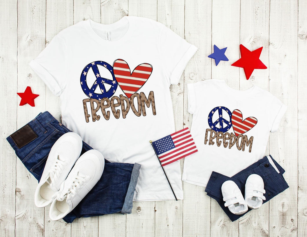 Peace Love Freedom | Adult and Mini Options