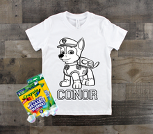 Load image into Gallery viewer, Kids Coloring Tee | Custom Name and Design Options