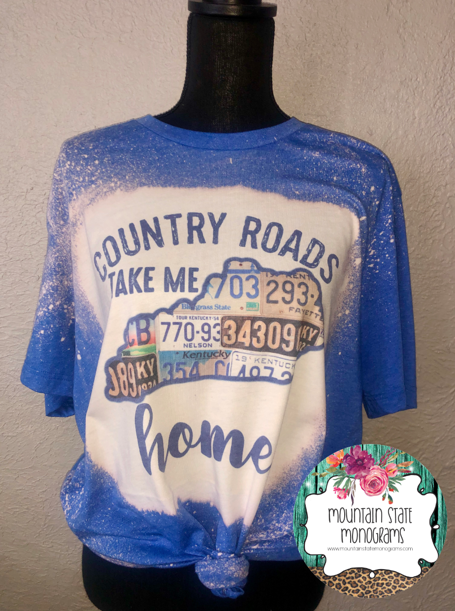 KENTUCKY Country Roads Bleach Tee
