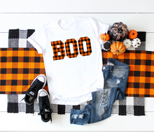 Load image into Gallery viewer, BOO | Orange + Black Gingham