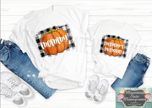 Pumpkin Patch | Mommy and Me White Tee Set