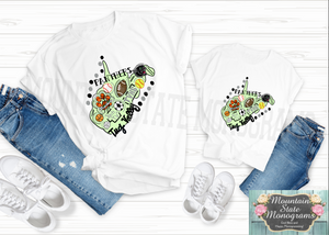 Panther Pride | Mommy and Me White Tee Set