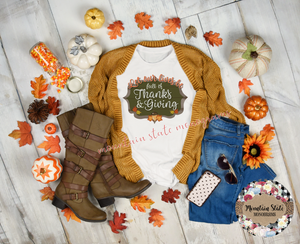 Let Our Lives Be Full of Thanksgiving | Thanksgiving Tee