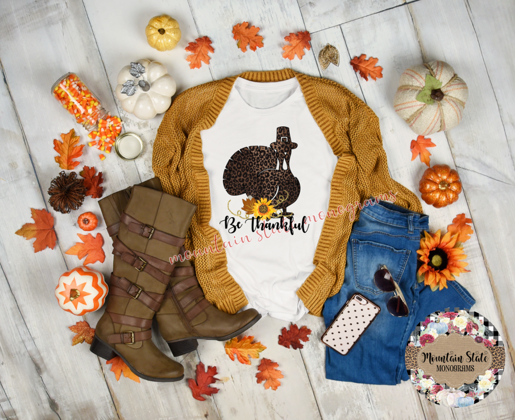 Be Thankful | Thanksgiving Tee