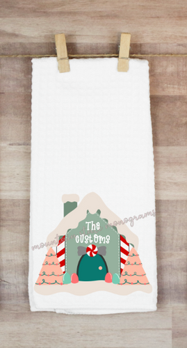 Gingerbread Wishes | Personalized Towel