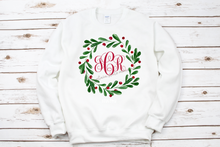 Load image into Gallery viewer, Holly Wreath Monogram Tee
