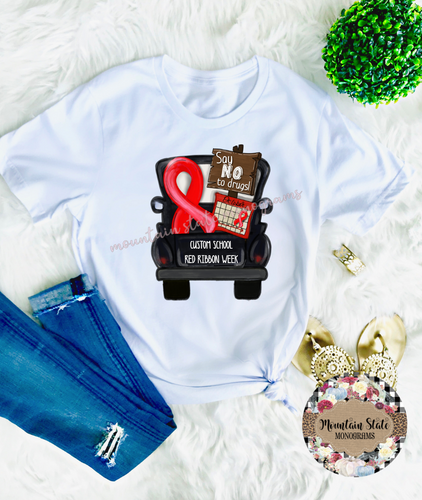 Red Ribbon Week | Say No to Drugs | Custom School Tee