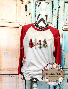 Wild about Christmas | Leopard + Plaid Christmas Tree Scene