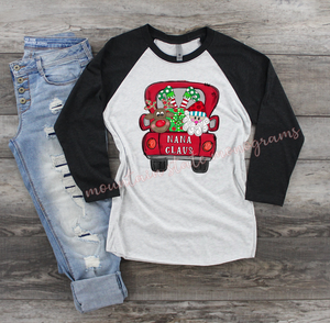 Custom Claus Christmas Truck | PERSONALIZED CHRISTMAS TEE