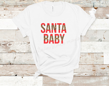 Load image into Gallery viewer, Santa Baby | Leopard Christmas Tee