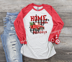 Home For The Holidays | West Virginia Christmas Tee | WV