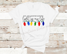 Load image into Gallery viewer, My Grandchildren Light Up My Life | Christmas Tee