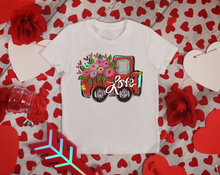 Load image into Gallery viewer, Little Match Valentine's Day Crewneck White Tee
