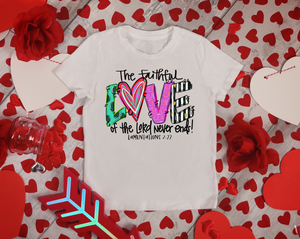 Little Match Valentine's Day Crewneck White Tee