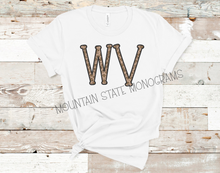 Load image into Gallery viewer, Leopard State Letter Tee | ANY STATE