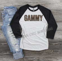 Load image into Gallery viewer, Leopard Custom Name Tee