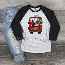 Load image into Gallery viewer, Fire Truck Custom Text Tee