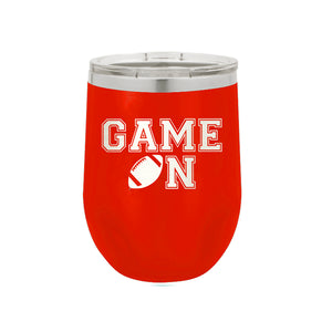 Red Game On 12oz Insulated Tumbler