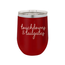 Load image into Gallery viewer, Garnet Touchdowns & Tailgates 12oz Insulated Tumbler