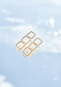 Gold Geometric Drops