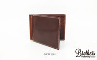 italy leather money clip 意大利牛皮錢夾銀包 MCW 0001