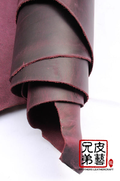 "重油蜡-腩條植鞣革 ""tundra pull up"" vegetable tanned leather belly italy-mario"