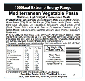 Expedition Foods Mediterranean Vegetable Pasta (1000kcal)