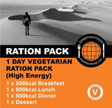 Expedition Foods 1 Day Vegetarian Ration Pack