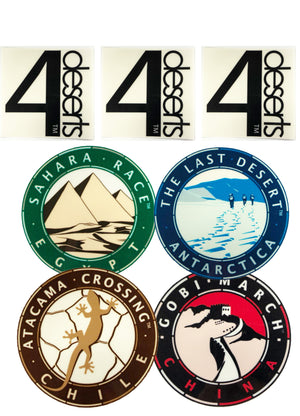 4 Deserts Stickers (Outside Window)