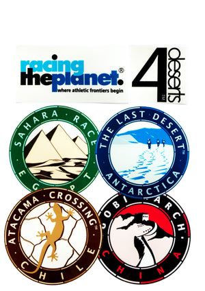 4 Deserts / RacingThePlanet Stickers (Inside Window)