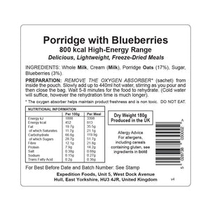 Expedition Foods Porridge with Blueberries (800kcal)