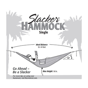 Therm-a-rest Slacker Hammocks Instructions