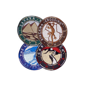 4 Deserts Series Patches (6cm)