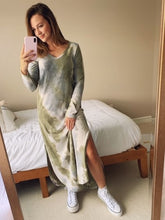 Load image into Gallery viewer, Olive Mix Tie Dye Dress