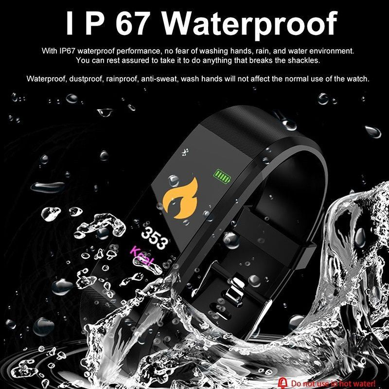 Wasserfeste Bluetooth Smart Watch Fitness Tracker