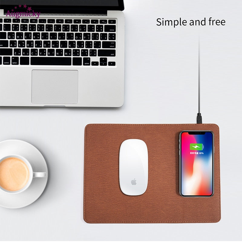 Wireless Charger Mouse Pad für iPhone, Samsung, Huawei