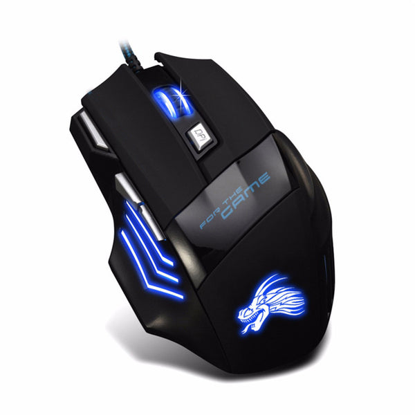 USB Gaming Maus 5500 DPI mit LED Beleuchtung