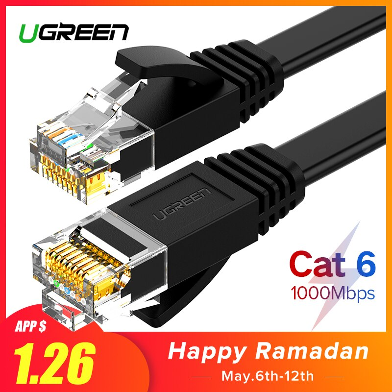 Cat 6 Ethernet LAN Kabel für Laptop, Router u. Co.