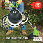 Grass Cutter/ Lawn Mover Heavy Duty Chain Cutting Head (50% Off Today Only!)