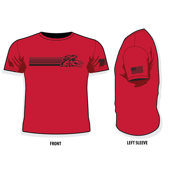 Slow Glow T-Shirt - Red Patriot