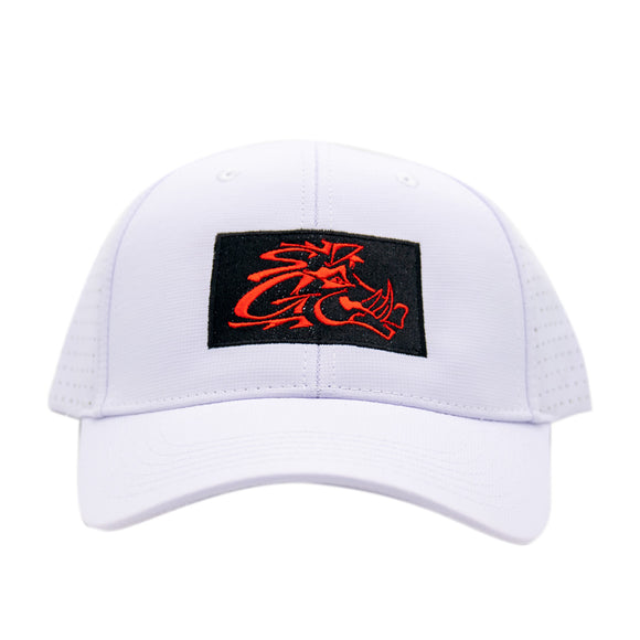 White Perforated Cap