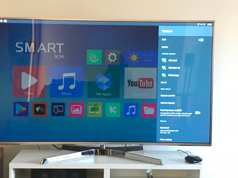 Android Smart TV setting up wi-fi