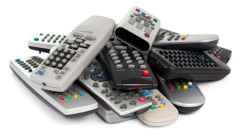 pile of remotes