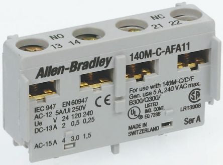 Auxiliary Contact Block ;Front  Mounted - 140M-C-AFA11