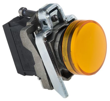 XB4VB5 - YELLOW PILOT LIGHT 22MM COMPLETE