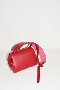cherry-red & pink cross-body