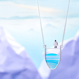 Mrs. Penguin - Handmade Necklace | New - MetalVoque