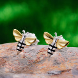 Lovely Honey Bee - Handmade Stud Earrings