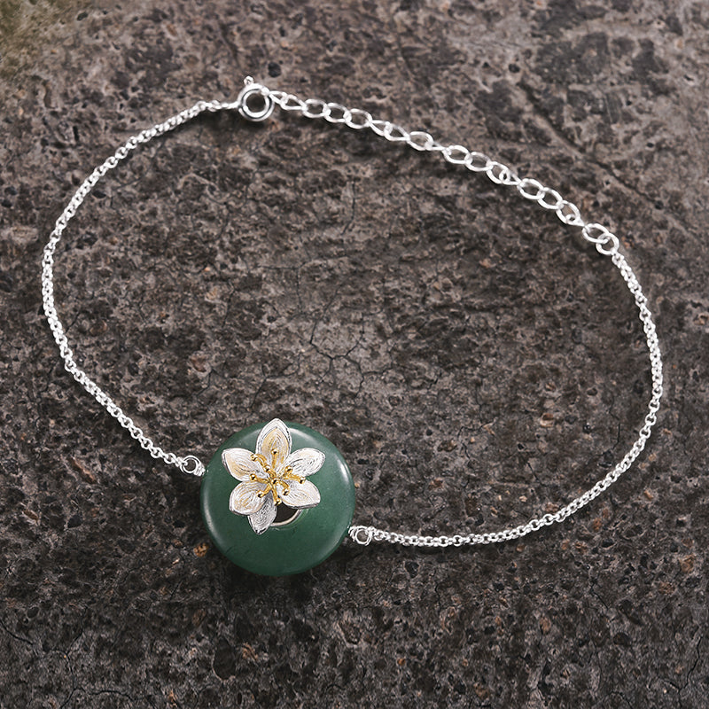 Whispering Lotus - Handmade Bracelet - MetalVoque
